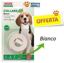 Beaphar Protezione Naturale - Collare colore BIANCO - Antiparassitario per cani