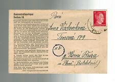 1944 Germany Dachau Concentration Camp Lettersheet Cover Jaroslav Vaclavik KZ