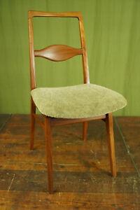 60er Teak Dining Room Chair Designer Kitchen Danish Modern Vintage mid-Century