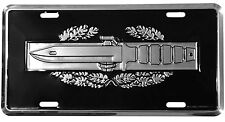 US ARMY COMBAT ACTION BADGE CAB METAL LICENSE PLATE - MADE IN THE USA!