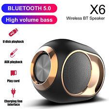 TWS Bluetooth 5.0 Speaker Wireless Stereo Super Bass Loudspeaker AUX/TF/FM Radio