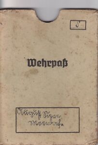 Wehrmacht Wehrpasshülle Original.