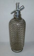 Vintage Soda Syphon Siphon Encased in Wire Mesh