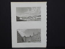 Paris and Its Environs, France, Two Steel Engravings, 1831 #03