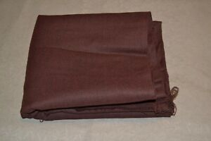 """Heavy cotton flannel, brown, 45"""" x 3.1 yards"""