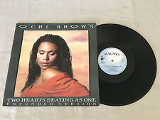 "O'CHI BROWN TWO HEARTS BEATING AS ONE 1986 UK RELEASE 12"" 45"