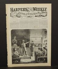 Harper's Weekly Cover A Village Public School - The Young Orator 1874 A10#35