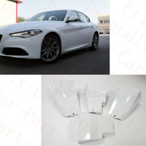 4Pcs For Alfa Romeo Giulia 17-19 Car Alfa White Fender Mud Splash Flaps MudGuard