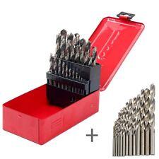 Twist High Speed Steel Drill Set Drilling Bit Metal Metric Tool 1-13mm Set of 38