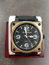 BELL & ROSS BR01-92 Aviation Mens Watch 18K & Stainless Nylon Strap (IMP002373)