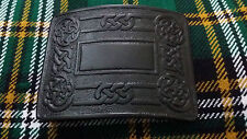 Men's Swirl Celtic Kilt Belt Buckle Black Chrome/Highland Kilt Buckles Celtic