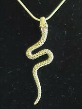 Includes Italian Snake Chain 925 Sterling Silver Snake Pendant