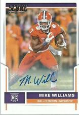 2017 MIKE WILLIAMS SCORE CERTIFIED ROOKIE AUTO AU RC  CHargers WR