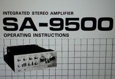 manuale utente amplificatore SA-9500 hifi stereo pioneer carta formato a4