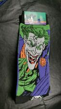 New Mens DC Comics Batman The Joker Crew Socks Size 6-12