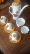 Vintage Retro J & G Meakin Coffee set 9 piece