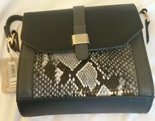 Monsoon Accessorize Charcoal Mono Snake Rigby Small Cross Body Bag Bnwt