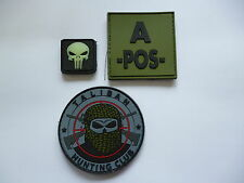LOT OF 3 RUBBERISED PATCHES  AIRSOFT / PAINTBALL / LASER QUEST.