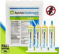 Syngenta ADVION Roach Killer Cockroach Gel Bait 4 Tubes with Plunger & Tip FRESH