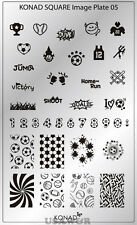 SQ05  Konad New Square Stamping Nail Art Image Plate Design template USA SELLER
