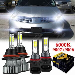 For Nissan Murano 2003-2007 Combo LED Headlight High/Low Beam + Fog Light Bulbs