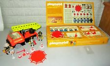 Retired Rare VTG 70s Schaper Playmobil Fire Fighters 070 & Engine #7 Fire Truck
