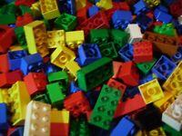 Lego Duplo 56 Bausteine 4/8 Noppen bunt gemischt in verschiedenen Farben