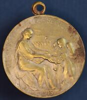WW1 1915 Great War French patriotic Orphans medallion 30mm VERY LIGHT *[16445]