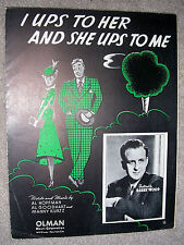 1938 I UPS TO HER AND SHE UPS TO ME Sheet Music BARRY WOOD Hoffman, Goodhart