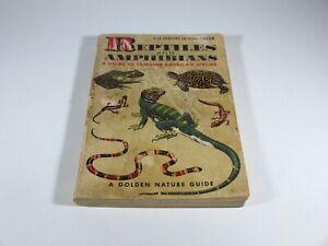 Vintage Nature Guide Golden Book Reptiles & Amphibians 1953