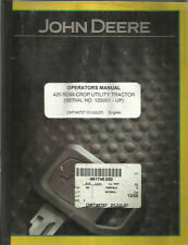 John Deere 420 Row-Crop Utility Tractor Operator'S Manual
