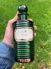 Rare Large Victorian Green Ribbed Chemist Poison Bottle Opium
