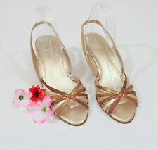 Liz Claiborne Metallic Wedfge Sandals 7-1/2 M