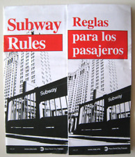 New York City Subway Rules of Ride Public Brochure Bilingual English Spanish