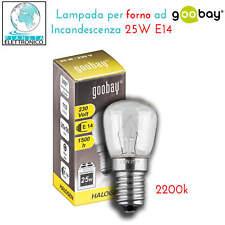 LED LUCE PER FORNO CAPPA ASPIRANTE Lampadina SES E14 25W ALTE TEMPERATURE