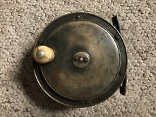 Antique Hardy Bros Of Alnwick Solid Brass Hercules Fly Fishing Reel