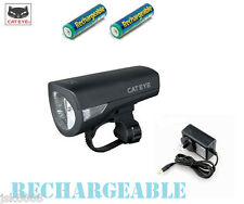 CATEYE CAT EYE HL-EL340RC  RECHARGEABLE BICYCLE BIKE FRONT LIGHT NEW  IN  BOX