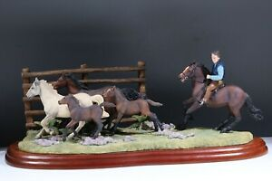 BORDER FINE ARTS The Drift New Forest Ponies Limited Ltd Edition AC6