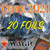 MTG Magic The Gathering Core Set 2021 M21 Job Lot 20 FOIL C/U Cards