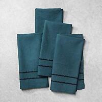 Hearth and Hand Magnolia 4 Piece Napkins Blue/Green