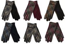 Full Finger Touch Screen Tartan Women's Ladies Gloves