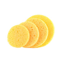 AU_ 5Pcs Round Beauty Facial Remover Cosmetic Pads Face Cleaner Makeup Sponge Re