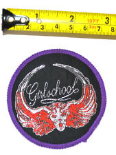VINTAGE GIRLSCHOOL PATCH, 1980s, MOTORHEAD, not badge, acdc, iron maiden, budgie