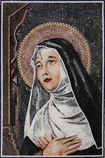 Saint Rita Prayer Religious Decor Marble Mosaic FG1008