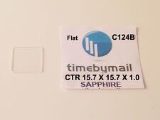 FOR CARTIER TANK 15.7mm X 15.7mm Flat SAPPHIRE WATCH CRYSTAL GLASS Part C124B