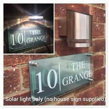 MODERN LED SOLAR LIGHT, SOLAR POWERED HOUSE SIGN ADDRESS LIGHT, ADD TO YOUR SIGN