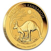 (10) CH/GEM BU 1/10 oz. 2019 $15 Gold Australian Kangaroo Coins 1/10 Ounce .9999