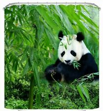 Panda 3D print Shower Curtain  eco friendly waterproof Polyester  NIP