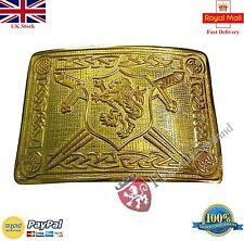 Men's Kilt Belt Buckle Saltire Lion Rampant Gold/Saltire Lion Rampant Belt Buckl