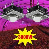 2X 1500W Watt COB Led Grow Light Full Spectrum Lamp For Plant Hydroponics Flower
